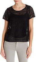 Joie Sevan Silk Combo Lace Top