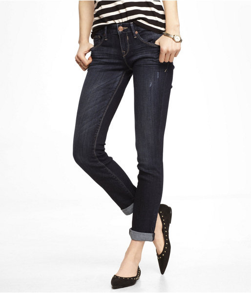 Express Low Rise Rolled Ankle Skinny Jean
