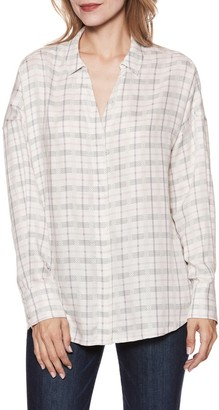 Paige Delisa Plaid Tunic Shirt
