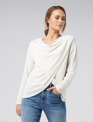 Forever New Heather Cowl Neck Top - Grey - xxs