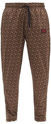 Burberry Duke Drawstring-tie Logo-print Jersey Track Pants - Brown