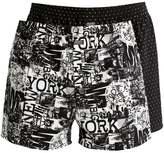 Jockey 2 Pack Boxer Shorts Black