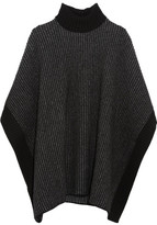 Tomas Maier Wool Turtleneck Poncho - Charcoal
