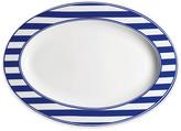 Caskata Beach Oval Platter - White/Blue