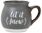 "Threshold Let it Snow"" 16oz Stoneware Belly Mug Grey"