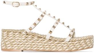 Valentino Rockstud 55 wedge sandals