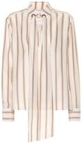 Chloé Striped silk satin blouse