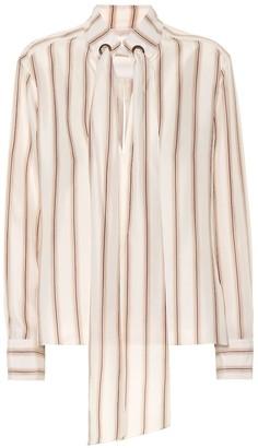 Chloã© Striped silk satin blouse