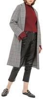 Topshop Women's Checkered Pow Jersey Coat