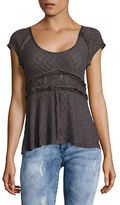 Free People Besties Lace Button-Front Top