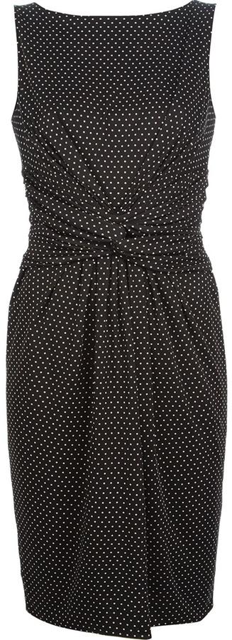 Moschino knotted polkadot dress