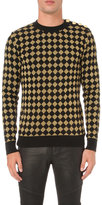 Balmain Glitter Harlequin-patterned Jumper