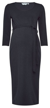 Dorothy Perkins Womens Dp Maternity Black Ribbed Midi Dress, Black