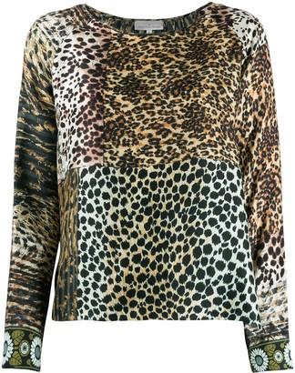 Pierre Louis Mascia Animal Print Mix Top
