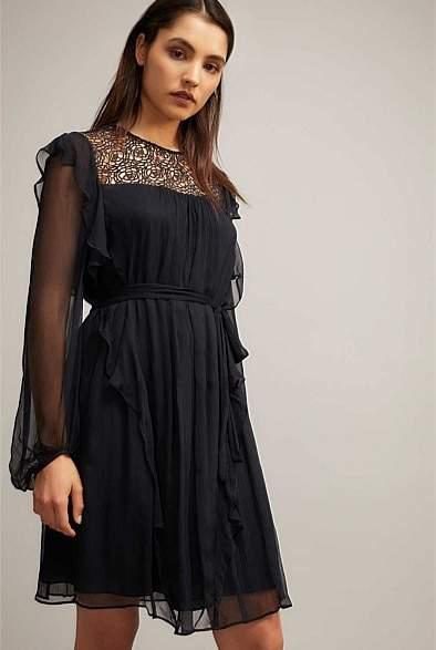 Witchery Lace Bib Dress