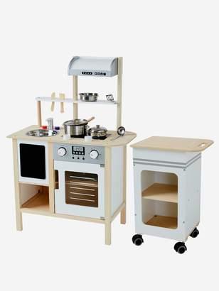 Vertbaudet Large Wooden Kitchen + Kitchen Trolley