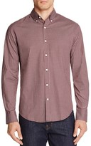 Hardy Amies Micro Check Slim Fit Button-Down Shirt