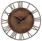 "Lazy Susan Parity 31.5"" Round Wall Clock Bronze ;"