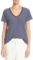 Vince Women's Stripe V-Neck Tee