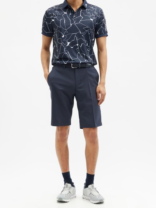 Thumbnail for your product : J. Lindeberg Somle Recycled-fibre Blend Golf Shorts - Navy