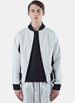 Y-3 Men's Future Contrast Ribbed Bomber Jacket In White