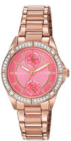 Citizen Ladies Drive Swarovski Crystal Pink Goldtone Stainless Steel Bracelet Watch