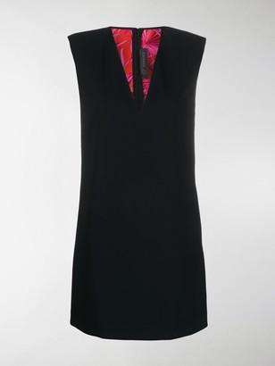 Versace Structured Shoulders Mini Dress