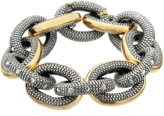 Moritz Glik 18K Yellow Gold and Blackened Silver Chain Bracelet