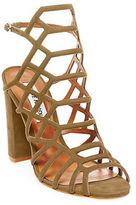 Steve Madden Skales Metallic Leather Dress Sandals