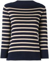 Woolrich boat neck striped jumper - women - Cotton - M