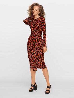 Diane von Furstenberg Gabel Merino Belted Dress