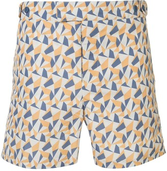 Frescobol Carioca Fragment tailored swim shorts