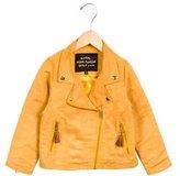 Mini Rodini Boys' Faux Suede Moto Jacket