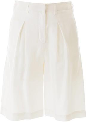 L'Autre Chose Pleated Bermuda Shorts