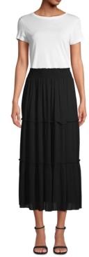 John Paul Richard Petite Tiered Maxi Skirt