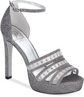 Adrianna Papell Morgan Ankle-Strap Evening Sandals Women's Shoes