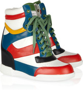 Marc by Marc Jacobs Kisha leather wedge sneakers