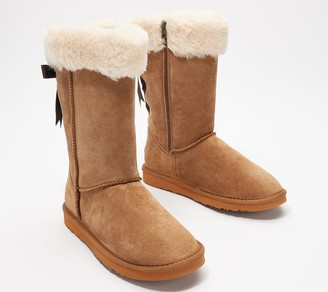 Lamo Water and Stain Resistant Suede Tall Boot -Adele
