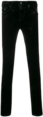 Saint Laurent Skinny Velvet Trousers