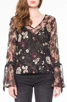 Willow & Clay Embroidered Mesh Blouse