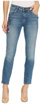 Mavi Jeans Adriana Mid-Rise Super Skinny Ankle in Mid Flower Embroidery Women's Jeans