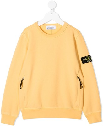 Stone Island Junior Long-Sleeved Logo Patch Jumper