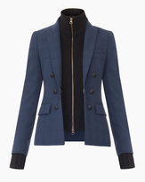 Veronica Beard Jackson Peak Label Faux DB Blazer