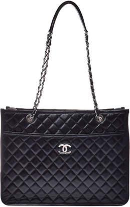 Chanel Black Leather Matrasse Chain Shoulder Bag