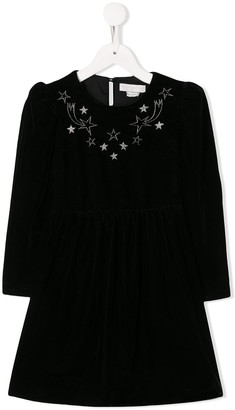 Stella McCartney Velour Embroidered Starts Dress