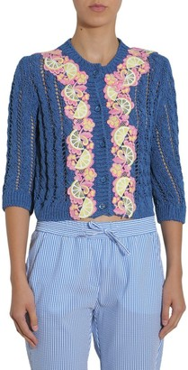 Boutique Moschino Embellished Cropped Cardigan