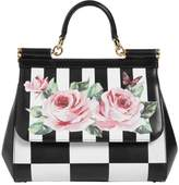 Dolce & Gabbana Medium Sicily Roses Printed Leather Bag
