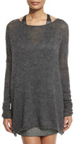 Kaufman Franco Oversized Knit Pullover Sweater, Charcoal