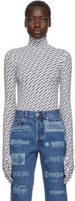 Vetements Black and White Gloves Bodysuit