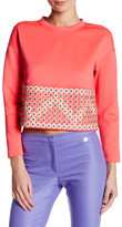 Versace Studded Topstitched Long Sleeve Blouse
